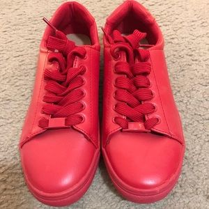 H&M red sneakers